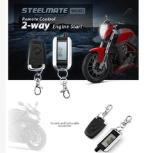 Steelmate 986XO Motorcycle AntiTheft Security Alarm System 2-way LCD Transmitter Remote Control Engine Start Water Resistant ECU(China)