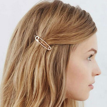 Gold Metal Women's Hair Jewelry Hair Clip Hairpin Alloy Comb Barrette Hairgrip Girls Hair Pin Hair Accessories(China)