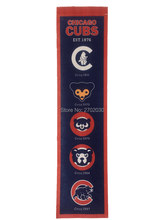 Chicago Cubs  Baseball Champion Team San Francisco Giants Rectangle Heritage Flags Banners With String Felt Pennats 20*81cm
