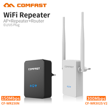 COMFAST 150~300Mbps Wifi Repeater Router 2.4GHz Wifi Signal Extender English Firmware Wi-fi AmplifierMini Home P Router(China)