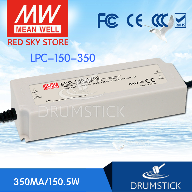 [YXEY] Hot! MEAN WELL original LPC-150-350 430V 350mA meanwell LPC-150 430V 150.5W Single Output LED Switching Power Supply<br><br>Aliexpress
