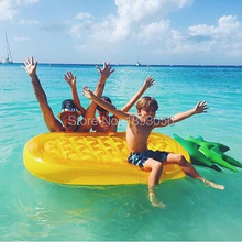 HOT 72'' Inflatable Giant Pineapple Pool Floats Summer Ananas Floating Air Mat Swim Rings Water Kids Gift Water Play Life Raft(China)