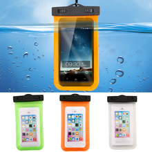 1x Universal Waterproof Mobile Phone Bag Case Clear PVC Sealed Underwater Cell Smart Phone Dry Pouch Cover Swimming Diving