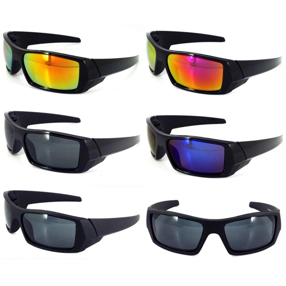 2 Pairs lot Red Mirrored Lens Outdoor Hunting Fishing Wrap Mens Sport Sunglasses