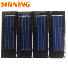 Fraflor 10Pcs Mini Solar Panel New 0.5V 100mA Solar Cells Photovoltaic panels Module Sun Power battery charger DIY 53*18*2.5mm(China)