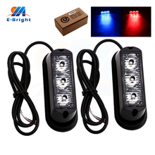 2sets(4pcs) 12V 24V Warning Light 3 SMD 16 Lighting Modes Vehicle DRL Off Road Driving Lamp White Blue Red Amber Free Shipping(China)