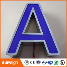 LED channel letters signs 3D outdoor customized illuminated signage(China)