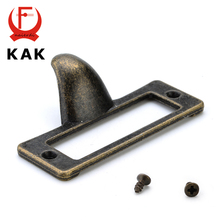 5pcs KAK Zinc Alloy Handle Antique Brass Label Pull Frame File Name Card Holder For Furniture Cabinet Drawer Box Case Hardware