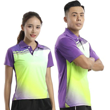 Sport Quick Dry breathable golf badminton POLO shirt Jerseys,Women/Men table tennis clothes team game training running T Shirts(China)