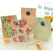 Gift paper Bags,Flower printing paper bags, Party, Lolly,Favour, Wedding, Packaging  24pcs/lot 13x23cm