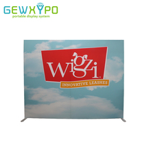 10ft*8ft Square Corners Tension Fabric Printed Banner With Aluminum Frame,Exhibition Pop Up Booth Advertising Backwall Display