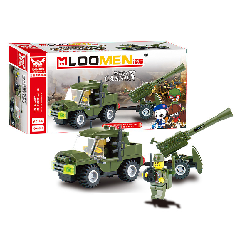 93pcs DIY Field Armies Assemble Toy Early Educational Brinquedos Cannon Small Particles Building Blocks for Kids<br><br>Aliexpress