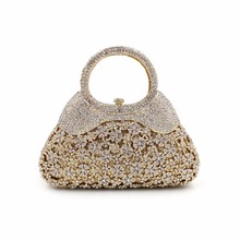 BL039 Luxury diamante evening bags colorful clutch bags women party purse dinner bags crystal handbags gemstone wedding bags(China)