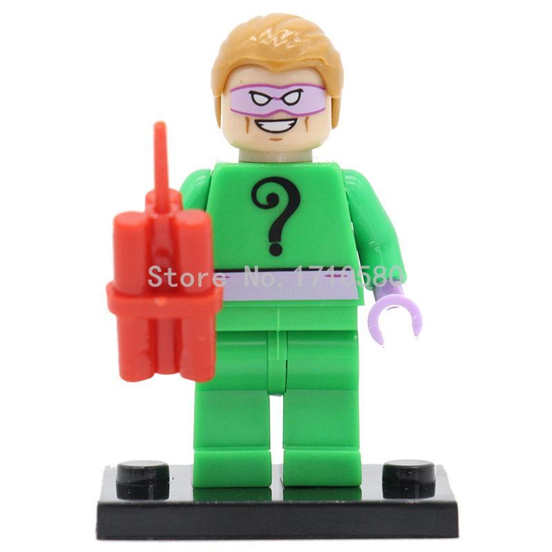 PG083 DC Riddler Figures Single Sale POGO DC Super Heroes Black Manta Building Blocks Models Mini Toys For Children<br><br>Aliexpress