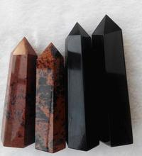 WBY---331+++ Pure natural single pointed Obsidian pillars Hongyao help radiation block evil evil fortune