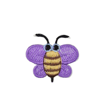5pcs lavender Bees patches insect badges for clothing iron embroidered patch applique iron on patches sewing accessories DIY