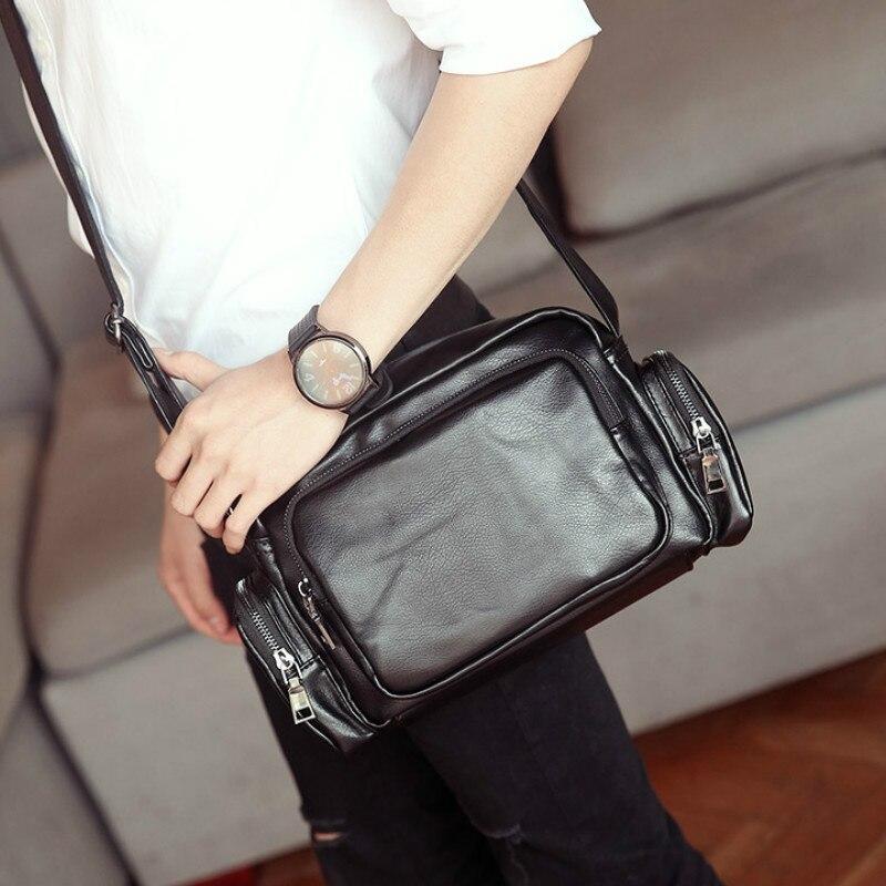 Tidog mens bags fashion leather business single shoulder bag<br>