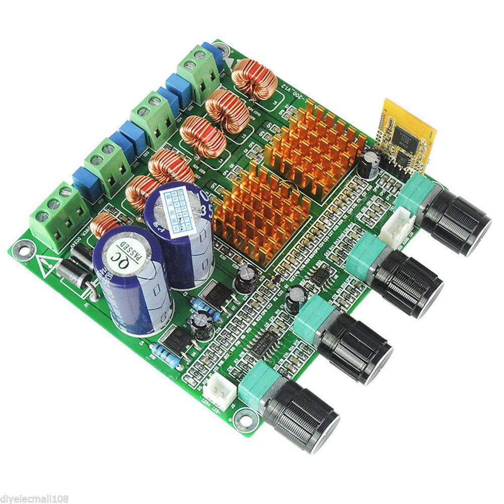 Bluetooth 4.0 Digital 2.1 Class D HIFI Power Amplifier Board Supper Bass + C