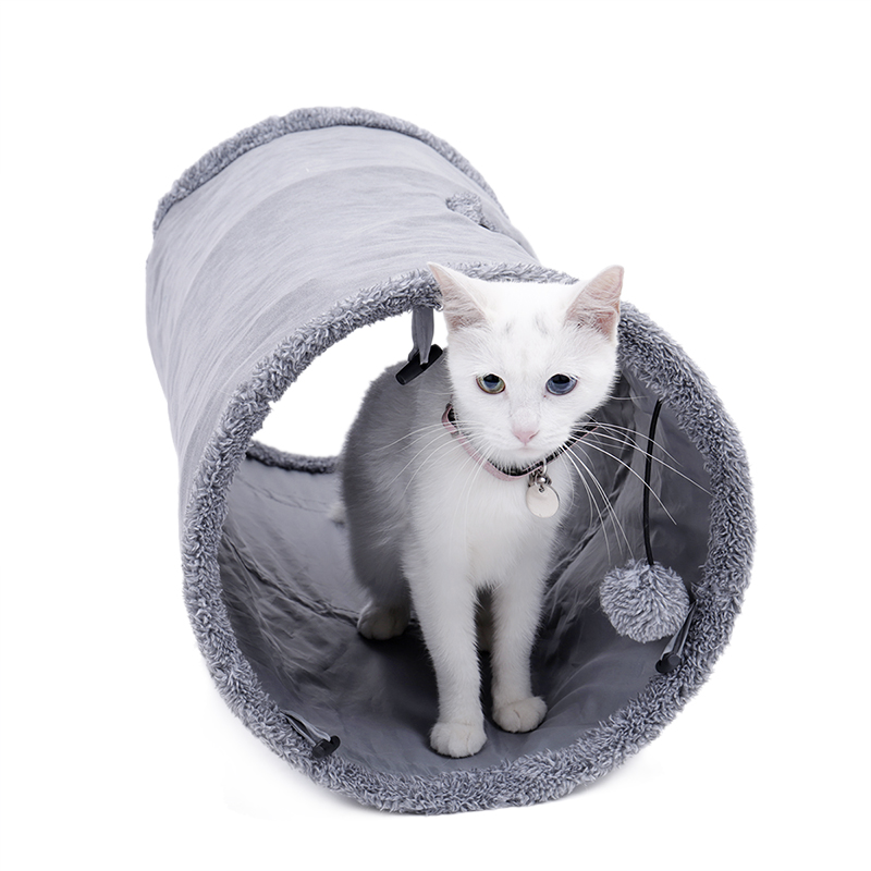 big cat tunnel Big Long Cat Tunnel with Play Ball Suede Material-Free Shipping HTB14s4omqigSKJjSsppq6ybnpXam