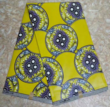 (30yards/lot)2017 Gold&purple super java wax with clovers pattern for african women church uniform(June-12-2017)