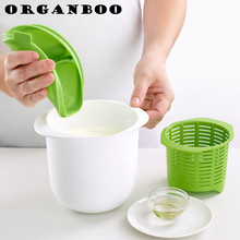 ORGANBOO Microwave Cheese Maker Kitchen Dessert Pastry Pie Tool Contains Recipes Plastic Healthy For Making Cheese Home Cooking(China)