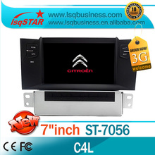For Citroen C4 L Car dvd radio with 3G wireless 6CDC Radio bluetooth ipod SWC car board display dual zone PIP car audio system(China)