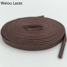 Buy Weiou Flat Waxed Shoelace 8mm Width Unisex Shoestrings Cord 100% Cotton Shoe Lace Leather Shoes Boots Free for $1.09 in AliExpress store