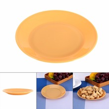 W 5Pcs Food-grade Plastic Snack Dish Colorful Tableware Saucer Flat Plate Snack Seeds Kitchen Supplies Dishes Plates