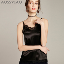 Buy Slim Lace Tops 2018 Women Summer Style Sexy Sleeveless Vest Roupas Femin Crop Top Women Camis Silk Satin Halter Top Camisole