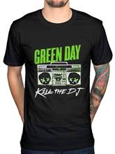 Vintage Tee Shirts Green Day Kill The Dj T Shirt Band Merch Rock Pop Punk Billie Armstrong Hipster Style Casual T Shirt