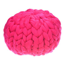 Handmade Knitting Thick Lines Pillow Sofa Cushion Wool Pillow Case Solid Sofa Waits Bedroom Decorative Pillows Ball Kid Toy(China)