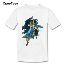 children's The Legend Of Zelda Kid Toddler Clothes T Shirt Infant Cotton Boy Girl 2017 T-shirt Crew Neck Kid Tshirt(China)