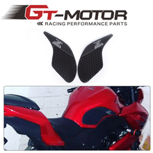 GT Motor - Tank Pad Protector Sticker Decal Gas Knee Grip Tank Traction Pad Side 3M For KAWASAKI Z250 2013 2014 2015(China)