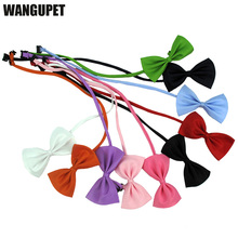 Variety solid color pet dog tie provided by factory Cat bow tie Pet bow tie Dog collar bow tie wholesale Adjustable bowtie(China)