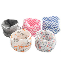 winter warm cotton baby scarf new o ring wraps kids neckerchief collars boys girls scarves star cute children accessories wear(China)