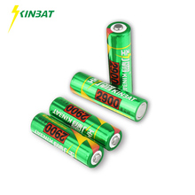 KINBAT 4pcs 2900mAh 1.2V AA Ni-MH Rechargeable Battery AA Pre-Charged NIMH Batteries Pack For Rc Toys Microphone Remote Controls(China)