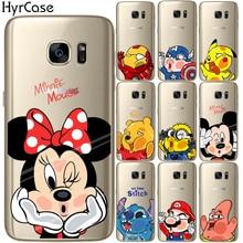 Cute Cartoon Mickey Minnie Marvel Soft TPU Silicone Phone Back Case Cover Samsung Galaxy S5 Mini S6 S7 Edge S8 S9 Plus Coque