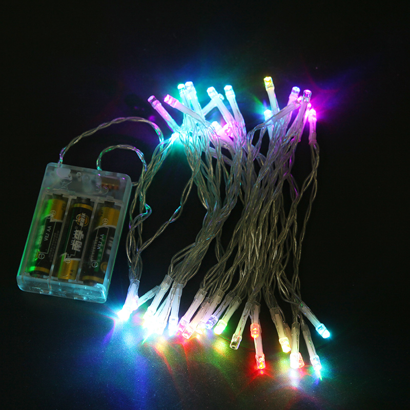 Battery Operated 1.2m LED String Lights Christmas Tree Lights Fairy Wedding Home Garden Indoor Outdoor Decoration Lighting(China)