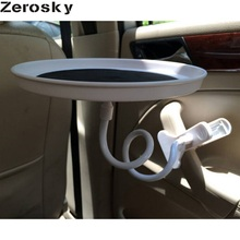 Zerosky Car Cup Holder Swivel Mount Holder Travel Drink Cup Coffee Table Stand Food Tray With Original Package