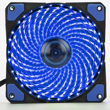 120mm PC Computer 16dB Ultra Silent 33 LEDs Case Fan Heatsink Cooler Cooling with Anti-Vibration Rubber,12CM Fan(China)