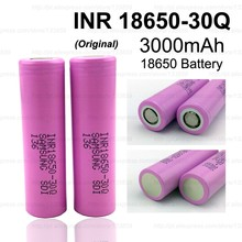 2PCS 100% original brand new for samsung INR18650 30Q battery 3000mAh lithium battery inr18650 powered rechargeable battery(China)