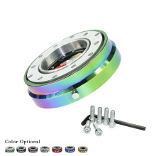 Thin Version 6 Hole Steering Wheel Quick Release Hub Adapter Snap Off Boss kit Sliver/ Purple/Blue/Golden/Black/Red/Neo Chrome