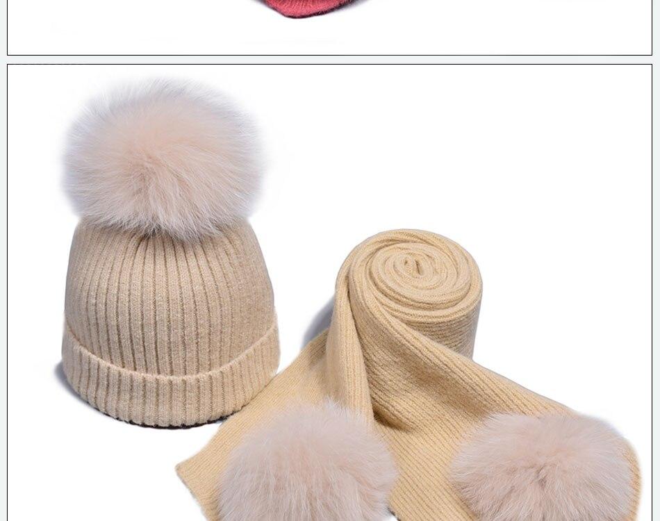 قبعة ووشاح للفتيات 13