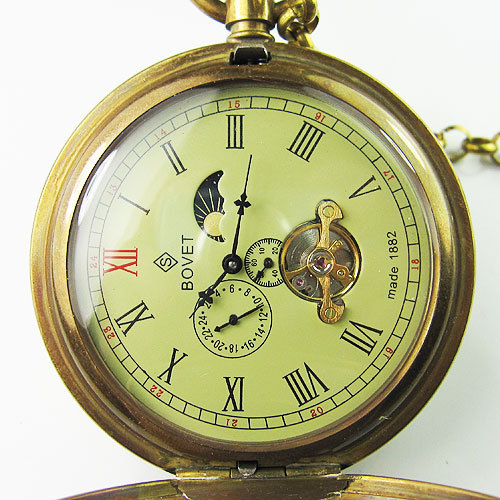 Antique Double Cover Tourbillon MoonPhase Pocket Watch<br>