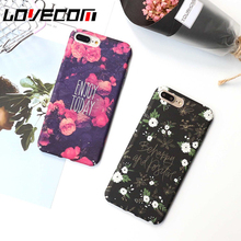 Retro Floral Rose Relief Phone Case For Apple iPhone 6 6S 6Plus 6SPlus 7 7Plus Hard PLactic Beauty Flower Cell Back Cases Cover(China)