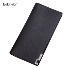 New 2017 Wallet Men PU Leather Fashion Fine Lines Mens Designer Wallet Casual Classic Men Wallet Business