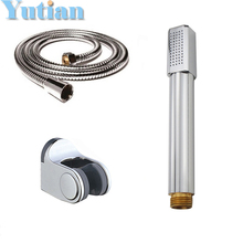 Hot selling free shipping !! hand shower sets solid brass hand shower +1.5M stainless steel shower hose +holder