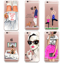 Afro Pardon my french Lipstick and hustle coffee cup Gift for dog lover For iphone 5 5s 6 6S 7 7Plus Back Cover Phone Cases Capa