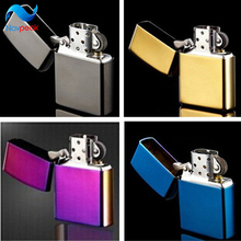 New 2015 High Quality Brand cigarette Lighters Fashion oil Metal smooth kerosene lighters grinding wheel lighters Wholesale
