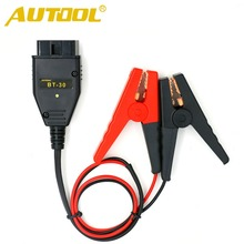 AUTOOL BT-30 Maintaining Auto Car Computer ECU MEMORY Saver Battery Tool OBD2 SAFE Replace Car Alligator Clips Battery Clamps